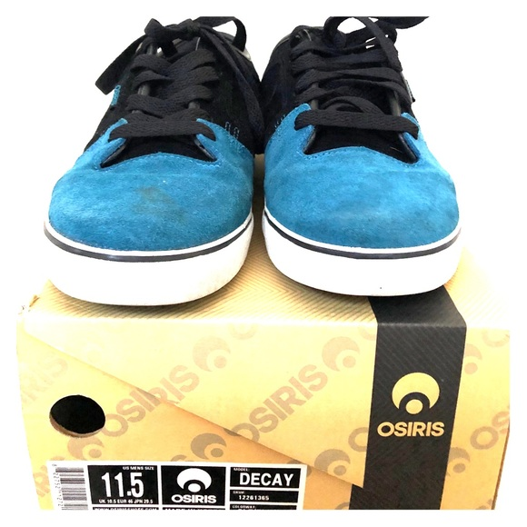 Osiris Other - Osiris Decay black/Teal suede Skate shoes sz 11.5